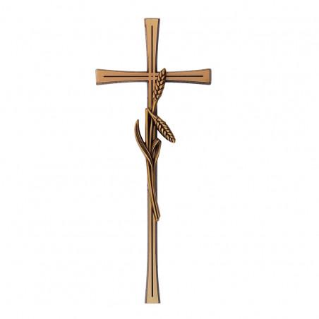 Felfoghato bronzotvozet kereszt kalasz disszelm 40 cm sz 16 cm