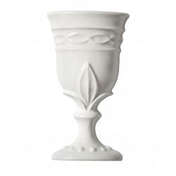 Cupa alba marmura reconstituita 8x15 cm