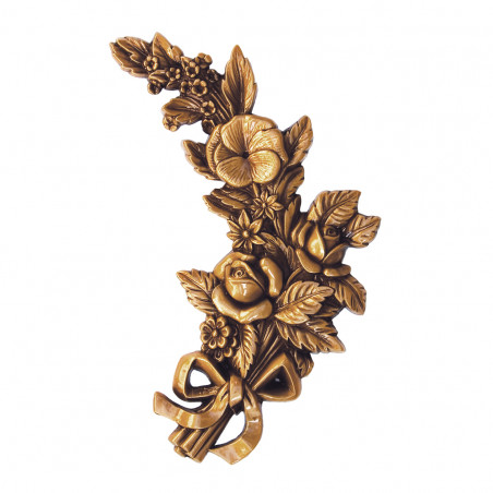Bronz Viragdisz jobboldalas m 25 cm sz 15 cm vastagsag 2 cm