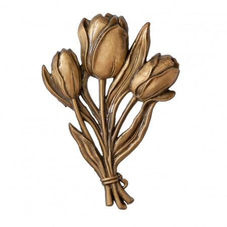 Bronz Tulipan Viragdisz m 18 cm