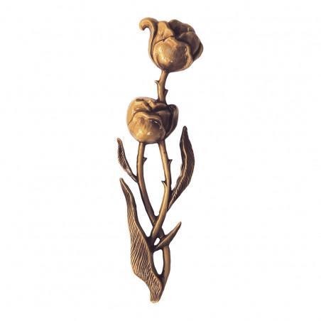 Bronz Makviragdisz m 18 cm sz 5 cm vastagsag 1 cm