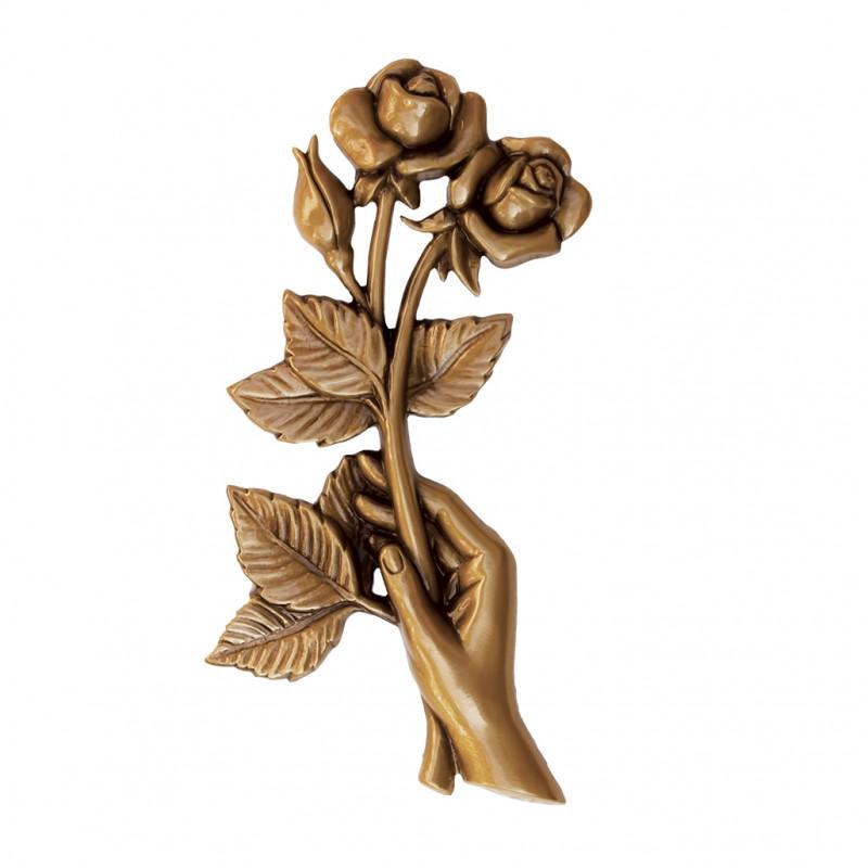 Floare Bronz Inaltime 19 x Latime 10 cm