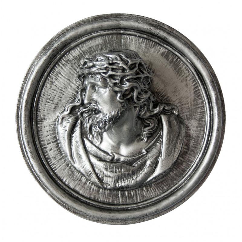 Hristos Argintiu din Marmura Reconstituita Inaltime 18 x Latime 7 cm