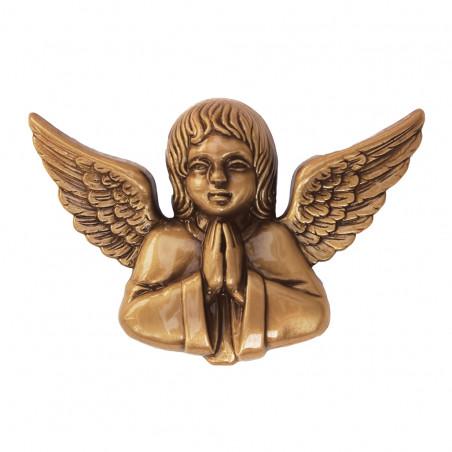 Bronz Aplikacio Angyal 13 x 9 x 2.5 cm