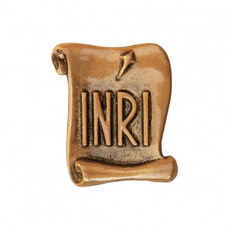 INRI Bronz Aplikacio 5x4 cm
