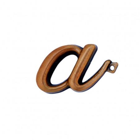 Litera Bronz A Cursiv Espresso 3 cm cu prindere