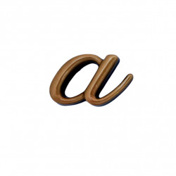 Litera Bronz A Cursiv Espresso 3 cm fara prindere