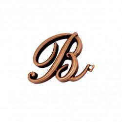 Litera Bronz B Cursiv Espresso 6cm