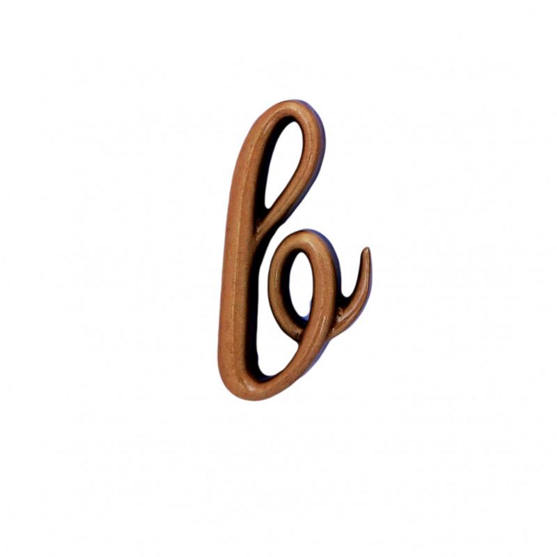Litera Bronz B Cursiv Espresso 3 cm fara prindere