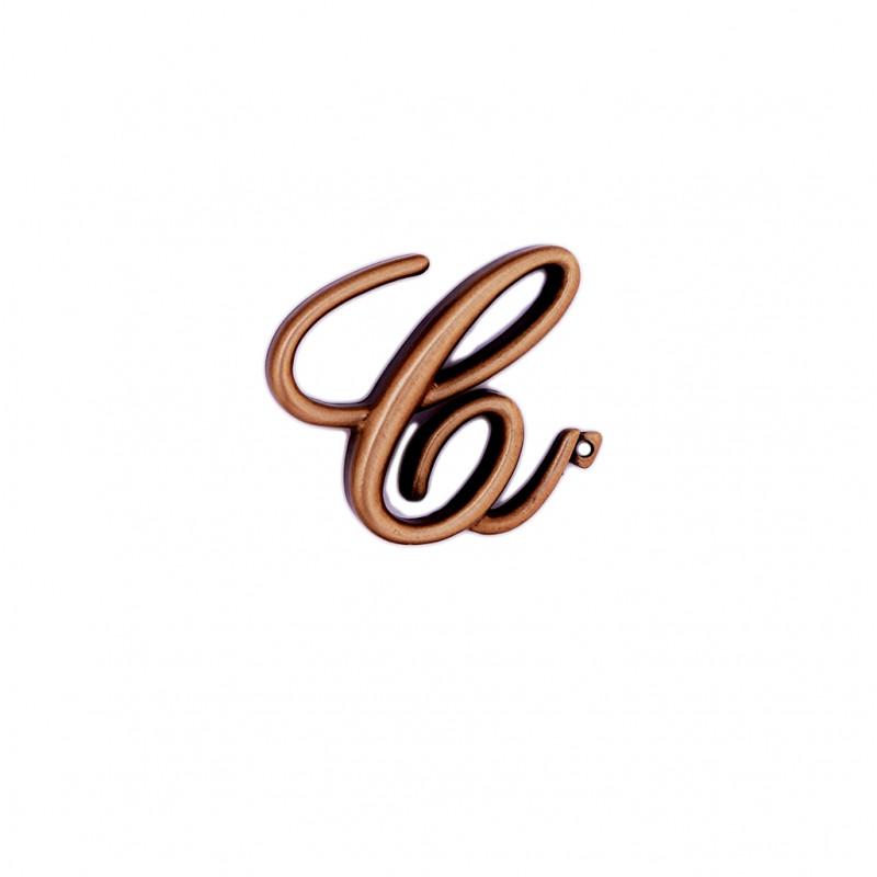 Litera Bronz C Cursiv Espresso 6 cm