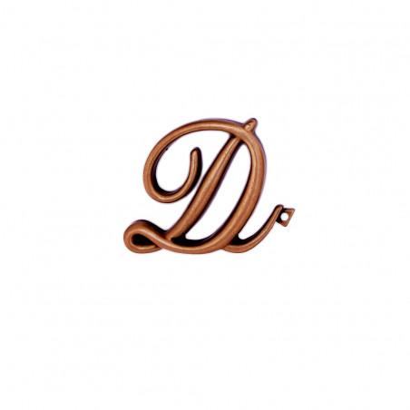 Litera Bronz D Cursiv Espresso 6cm