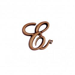 Litera Bronz E Cursiv Espresso 6cm