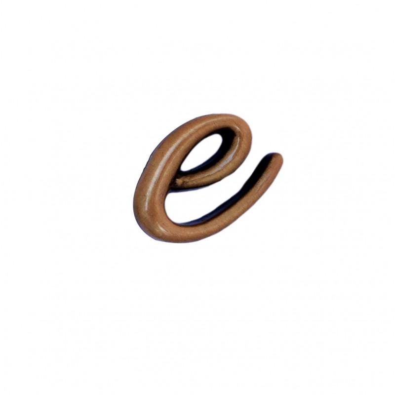 Litera Bronz E Cursiv Espresso 3 cm fara prindere