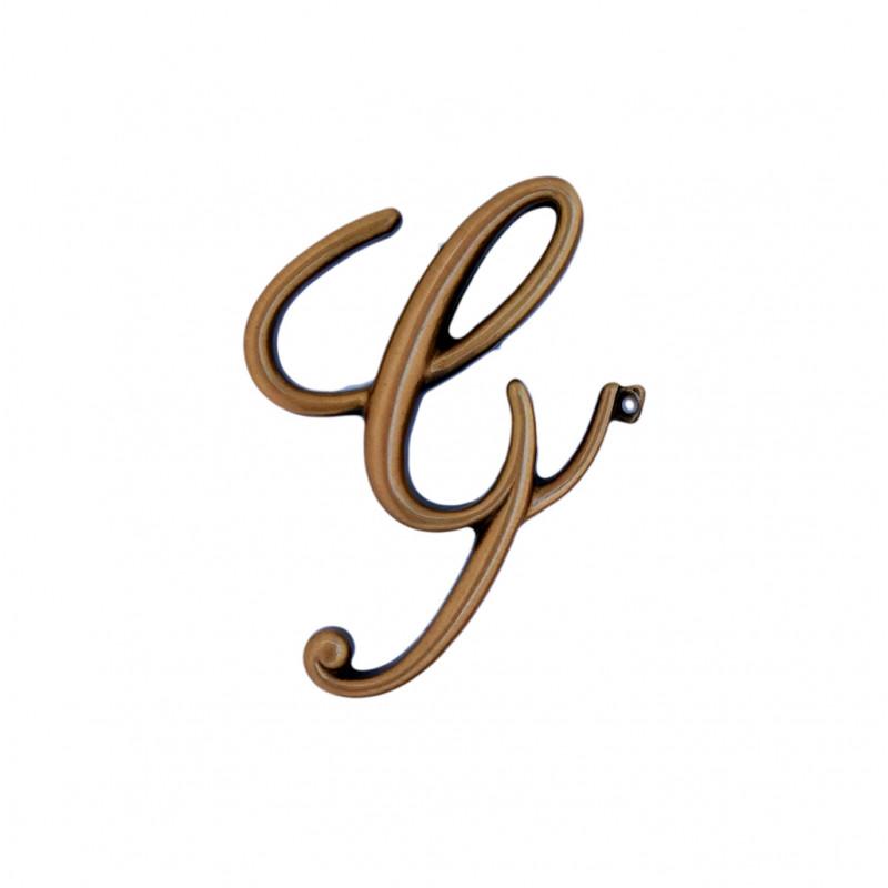 Litera Bronz G Cursiv Espresso 6cm