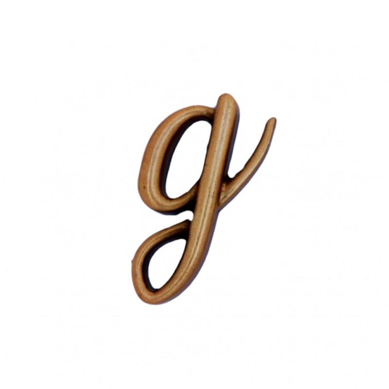 Litera Bronz G Cursiv Espresso 3 cm fara prindere
