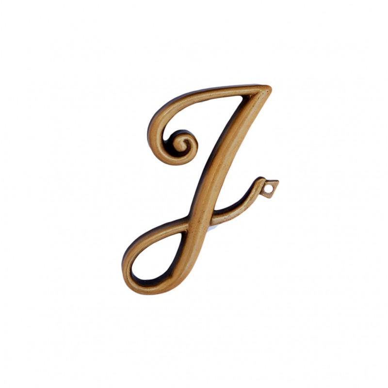 Litera Bronz J Cursiv Espresso 6cm