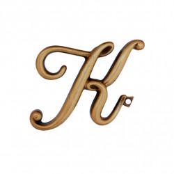 Litera Bronz K Cursiv Espresso 6cm