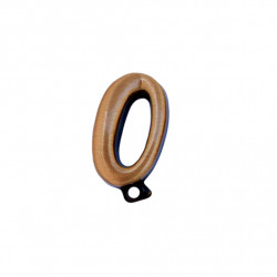 Cifra Bronz 0 Cursiv Espresso cu prindere 3cm