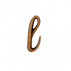 Litera Bronz L Cursiv Espresso 3 cm fara prindere