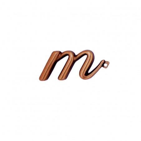 Litera Bronz M Cursiv Espresso 3 cm cu prindere