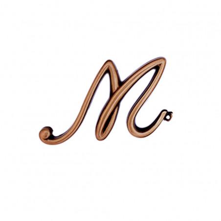 Litera Bronz M Cursiv Espresso 6cm