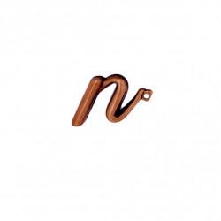 Litera Bronz N Cursiv Espresso 3 cm cu prindere
