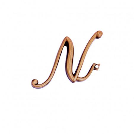 Litera Bronz N Cursiv Espresso 6cm