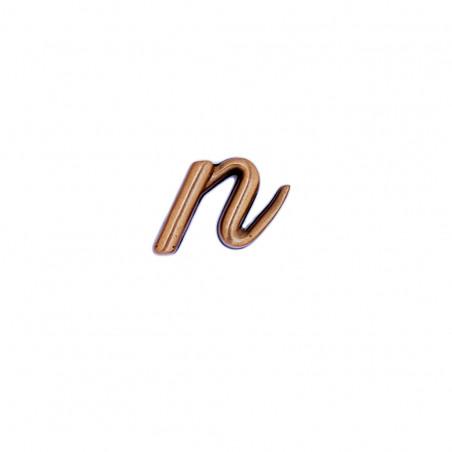 Litera Bronz N Cursiv Espresso 3 cm fara prindere