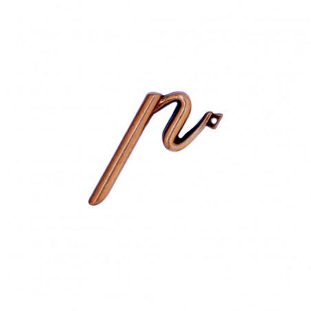 Litera Bronz P Cursiv Espresso 3 cm cu prindere