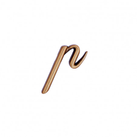 Litera Bronz P Cursiv Espresso 3 cm fara prindere