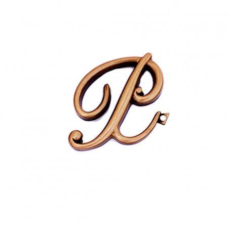 Litera Bronz P Cursiv Espresso 6cm