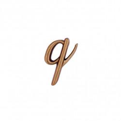 Litera Bronz Q Cursiv Espresso 3 cm fara prindere