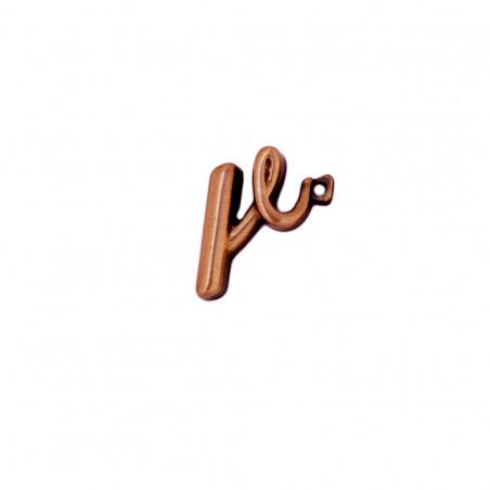 Litera Bronz R Cursiv Espresso 3 cm cu prindere
