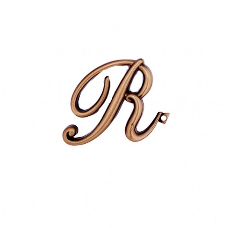 Litera Bronz R Cursiv Espresso 6cm