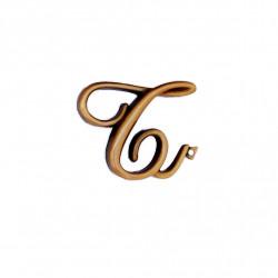Litera Bronz T Cursiv Espresso 6cm