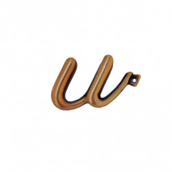 Litera Bronz U Cursiv Espresso 3 cm cu prindere