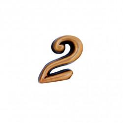 Cifra Bronz 2 Cursiv Espresso fara prindere 3cm