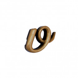 Litera Bronz V Cursiv Espresso 3 cm fara prindere