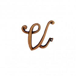 Litera Bronz V Cursiv Espresso 6cm