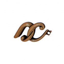Litera Bronz X Cursiv Espresso 3 cm cu prindere
