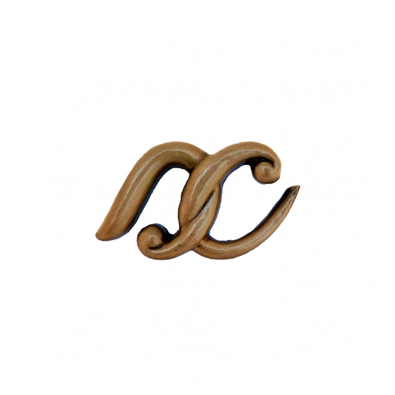 Litera Bronz X Cursiv Espresso 3 cm fara prindere