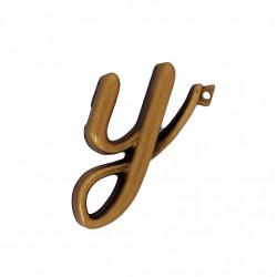 Litera Bronz Y Cursiv Espresso 3 cm cu prindere