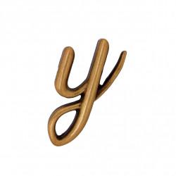Litera Bronz Y Cursiv Espresso 3 cm fara prindere