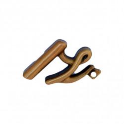 Litera Bronz Z Cursiv Espresso 3 cm cu prindere