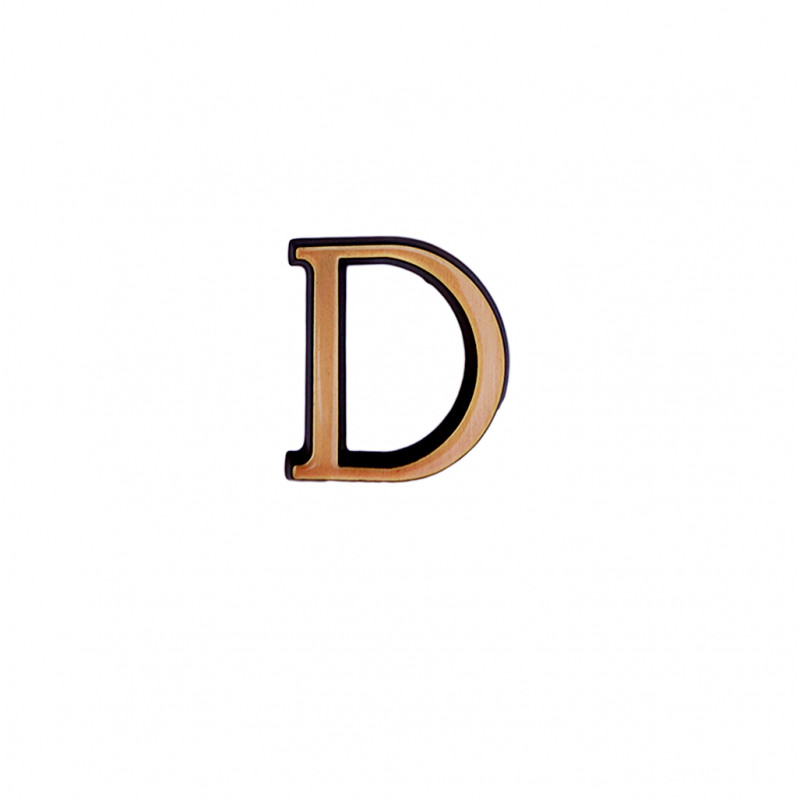 Litere Bronz Roman D 6 cm