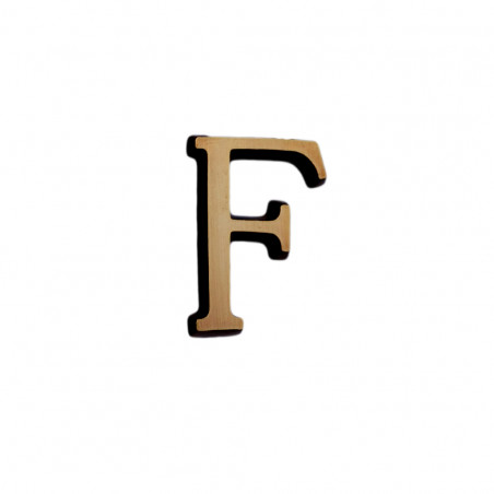 Litere Bronz Roman F 6 cm