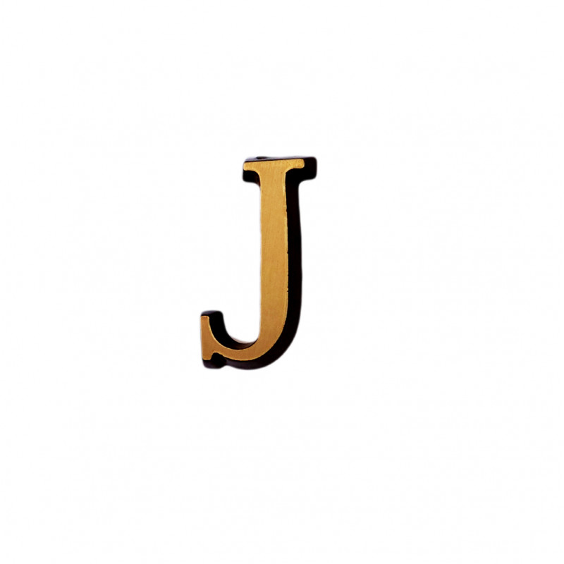 Litere Bronz Roman J 5 cm