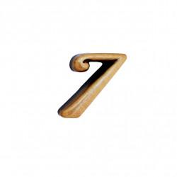 Cifra Bronz 7 Cursiv Espresso fara prindere 3cm