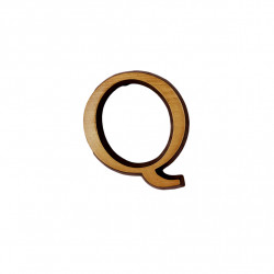 Litere Bronz Roman Q 5 cm