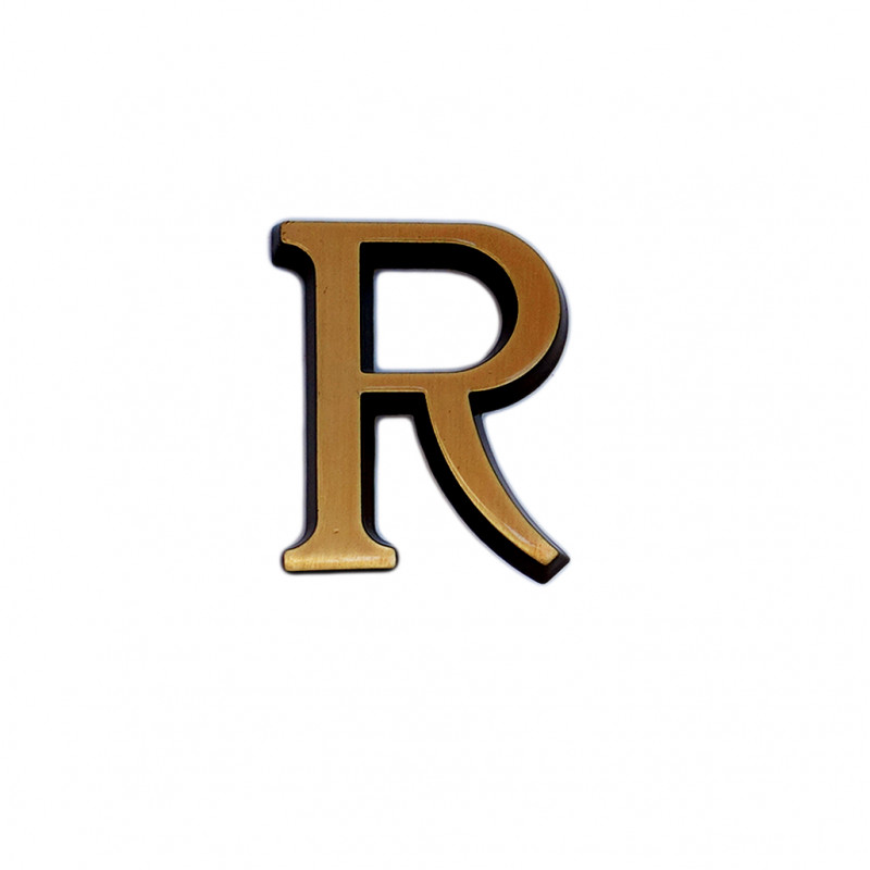 Litere Bronz Roman R 3 cm